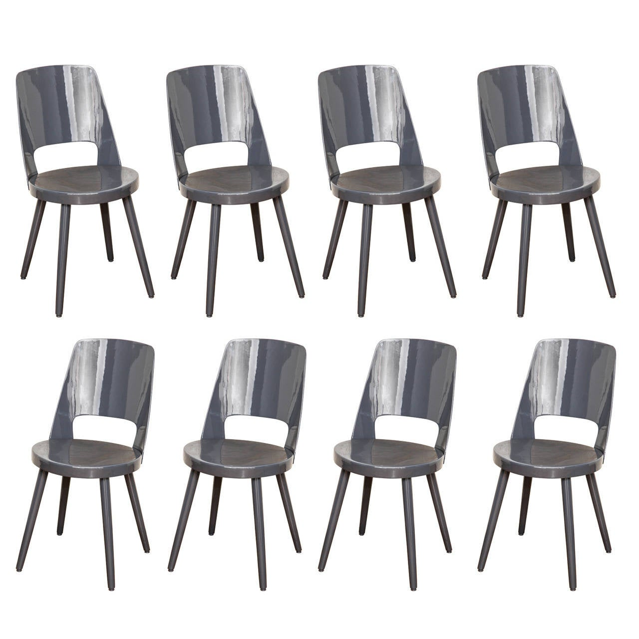 Set Of Eight Thonet Dining Chairs At 1stdibs