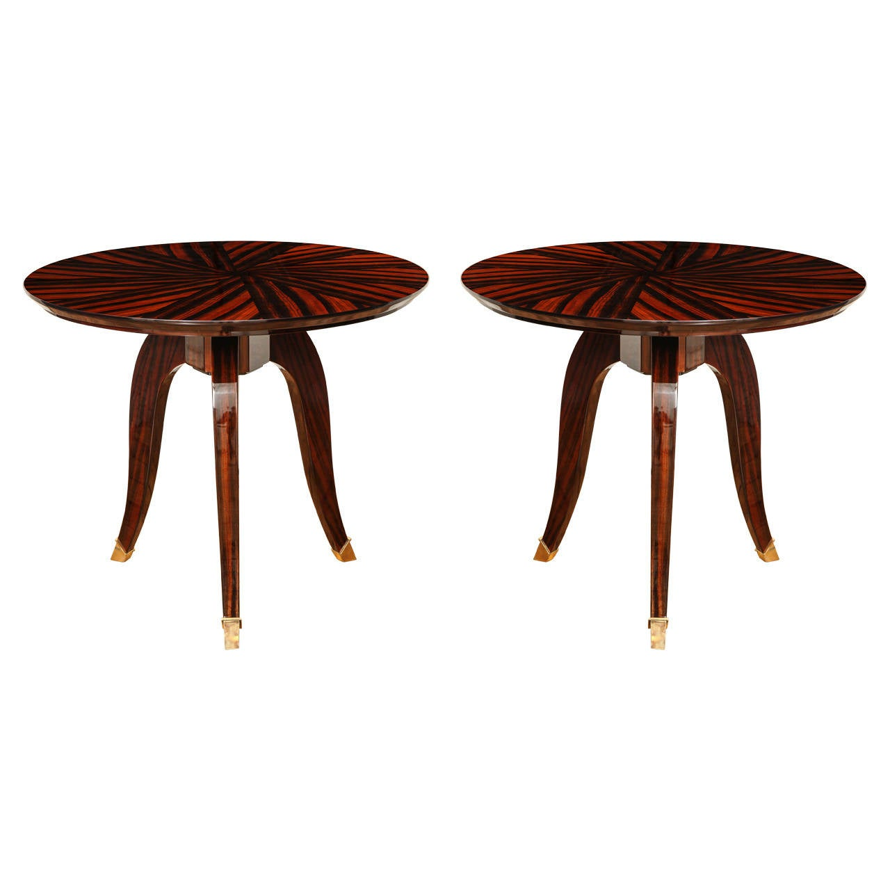 art deco gueridon or side table priced each. Black Bedroom Furniture Sets. Home Design Ideas