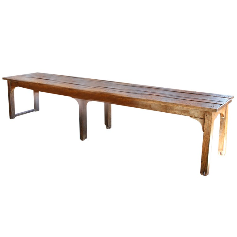 Large wood table at 1stdibs for Long desk table for two