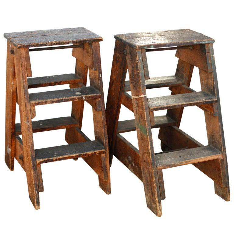 step ladders at 1stdibs. Black Bedroom Furniture Sets. Home Design Ideas