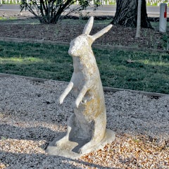 "Vintage Provencal ""Art Popular"" Cast Stone Wallaby"