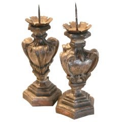 Silver Guilded Candlestick Set