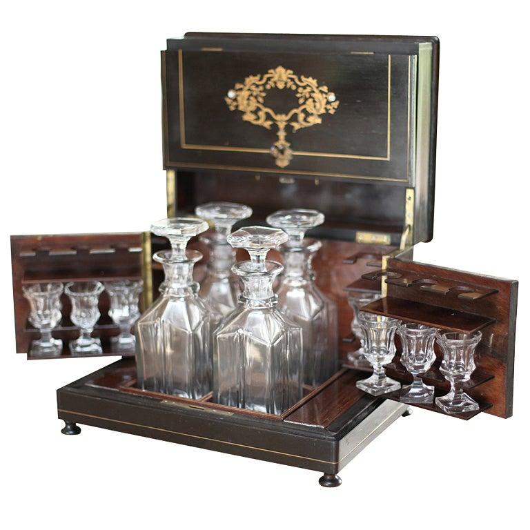 """""""Coffre a Liqueur"""" Napoleon III Port Box For Sale"""