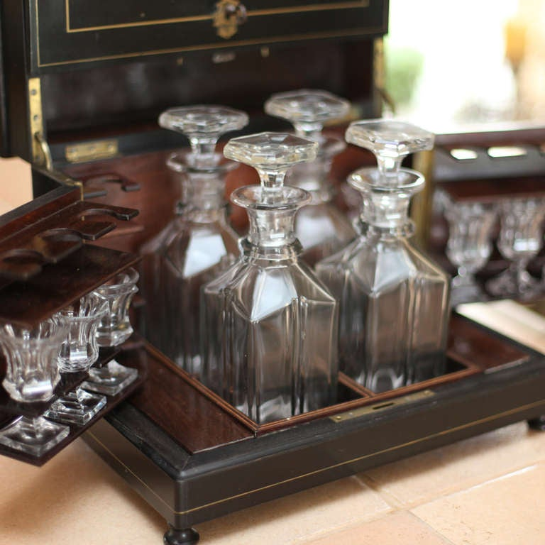 """""""Coffre a Liqueur"""" Napoleon III Port Box In Excellent Condition For Sale In Yountville, CA"""