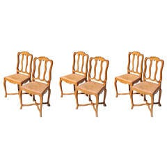 Beechwood Dining Chair Set, c. 1940's