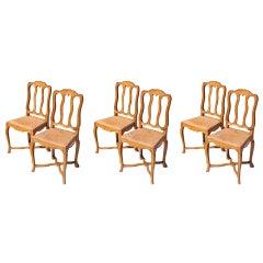Beechwood Dining Chair Set, c. 1940's