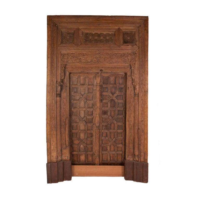Vintage carved wooden door panels for sale at 1stdibs for Old wood doors for sale