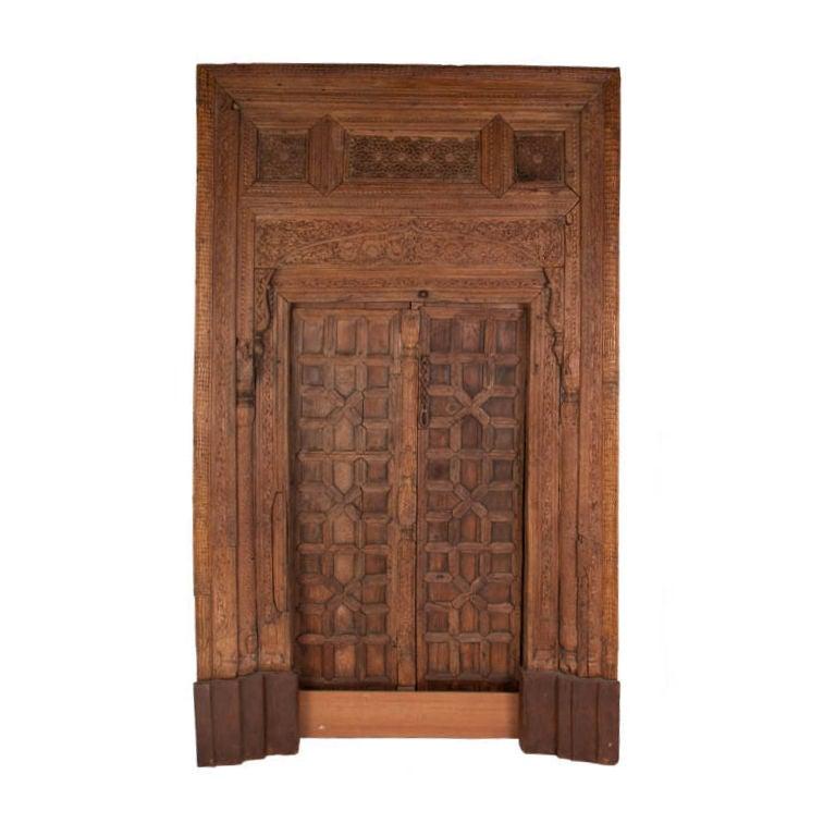 Carved Door Panels : Vintage carved wooden door panels