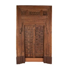 Vintage Carved Wooden Door Panels
