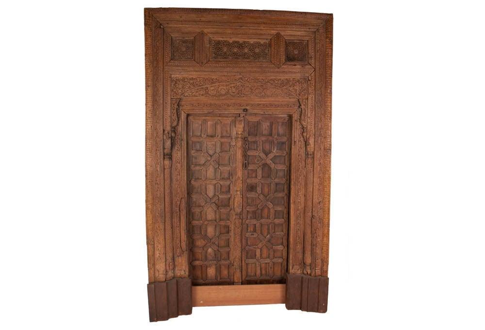 Carved Door Panels : Vintage carved wooden door panels at stdibs