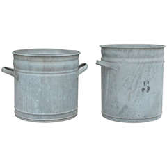 Early 20th Century French Metal Grain Tins