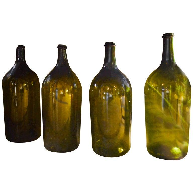 Vintage Glass Large Format Bottles, France, circa 1860 For Sale