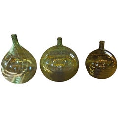 Vintage Blown Glass Wine Jars