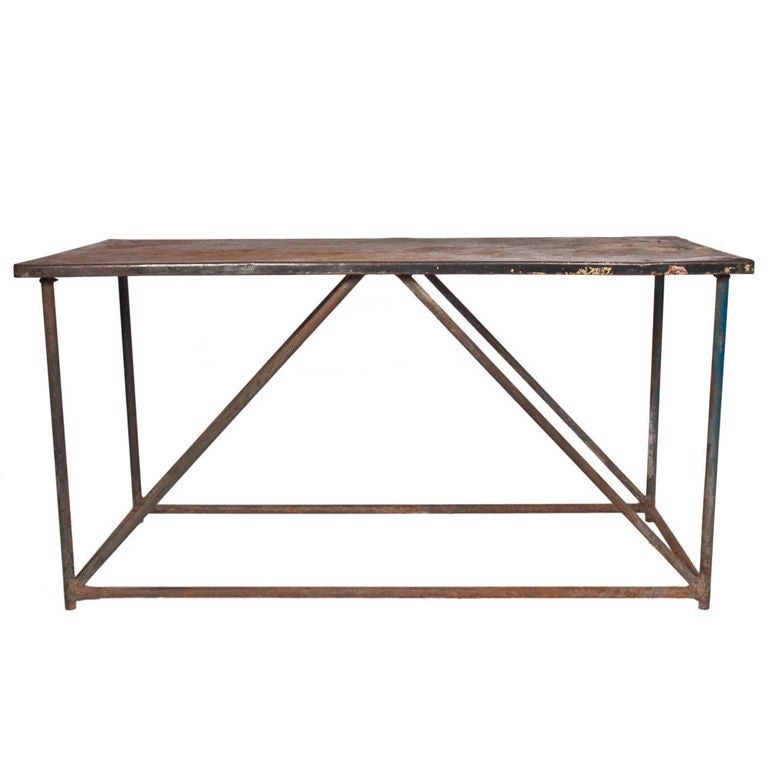 Metal console table for sale at 1stdibs Metal console table