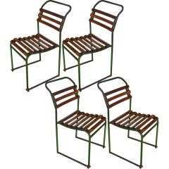 Vintage English Stacking Chairs