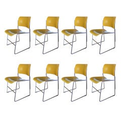Set of 8 David Rowland 40/4 Stacking Chairs (sold separately)