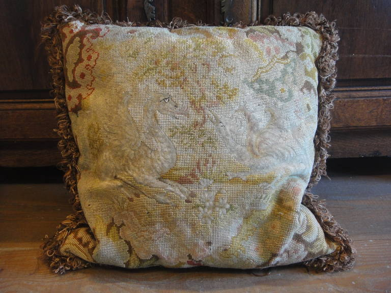 19th Century Tapestry Pillows In Good Condition For Sale In Yountville, CA