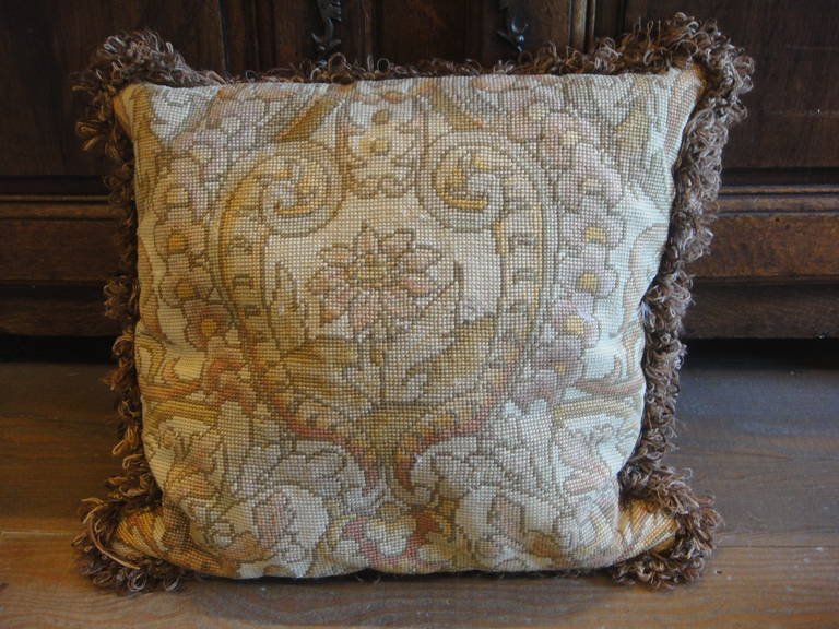 19th Century Tapestry Pillows For Sale 1