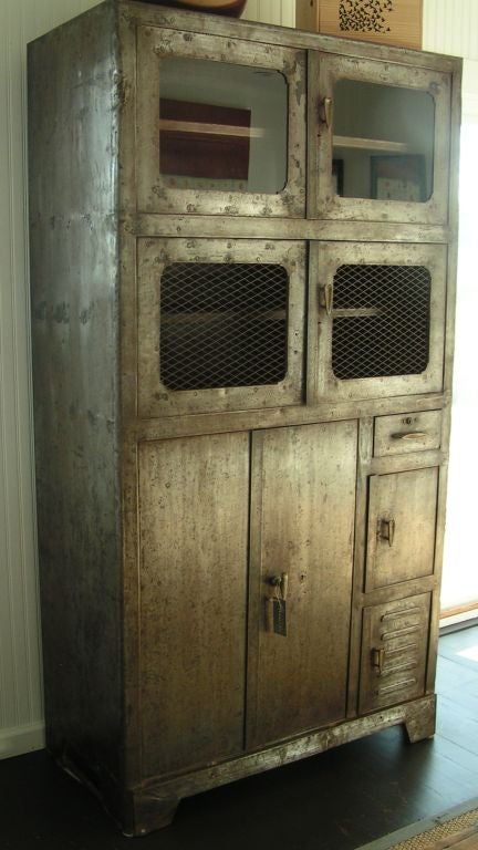 Vintage Metal Storage Cabinet, c. - Vintage Metal Storage Cabinet, C. 1920's For Sale At 1stdibs