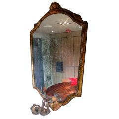 19th Century Hand-Painted Venetian Gilt Mirror