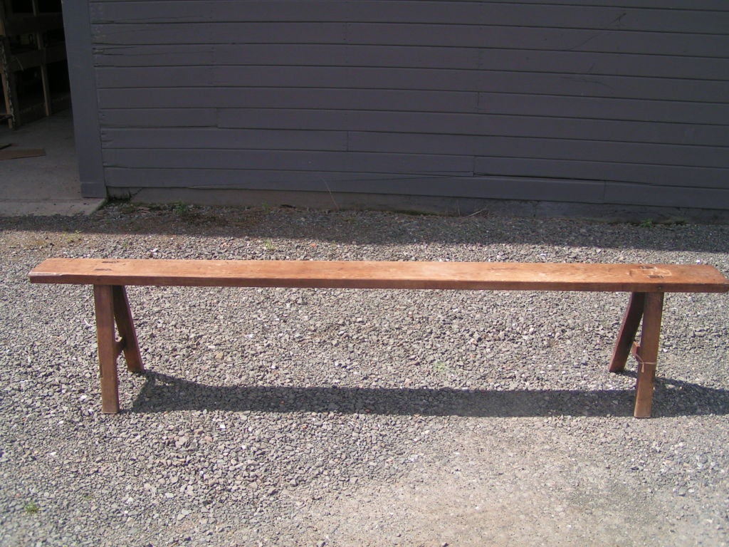 19th Century Low Wooden Bench From Sweden For Sale At 1stdibs