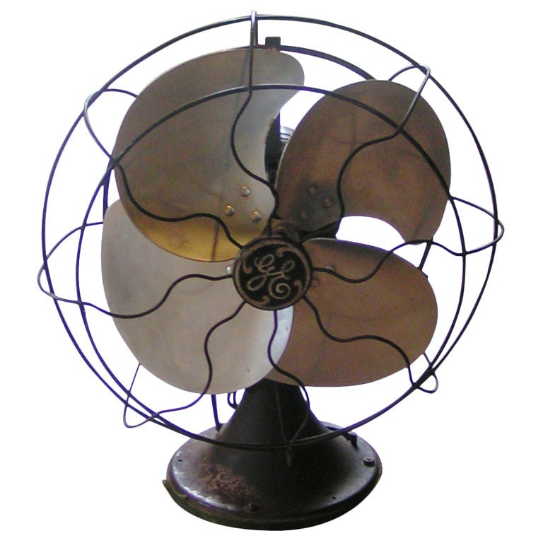 Vintage GE Desk Fan 1 - Vintage GE Desk Fan At 1stdibs