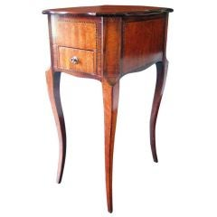 Petite Marquetry Side Table, circa Late 19th Century