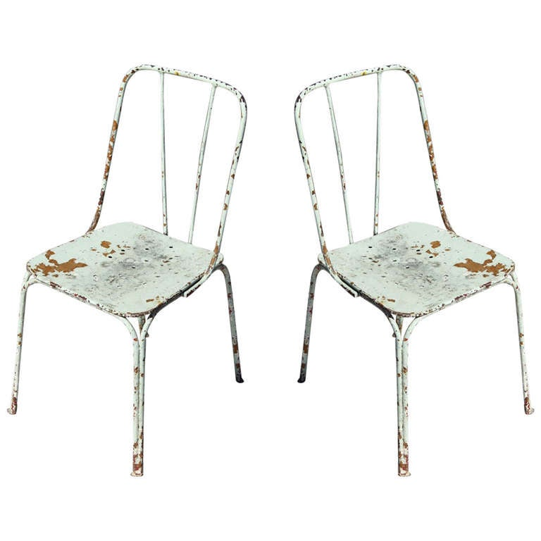White Vintage French Garden Chairs C 1930 S For Sale At 1stdibs