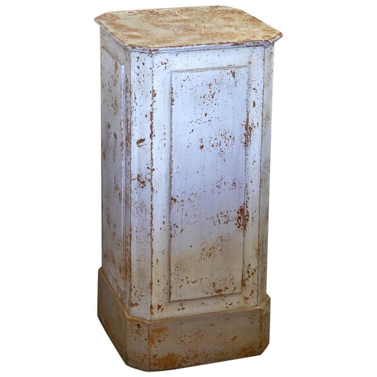 Late 19th Century Painted Wood Pedestal from Sweden