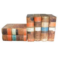 Set of Six Antique Faux Books, France, c. 19th Century