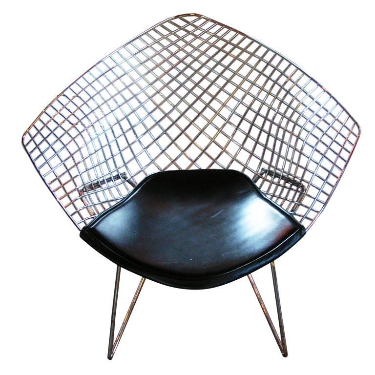 bertoia diamond chair at 1stdibs. Black Bedroom Furniture Sets. Home Design Ideas