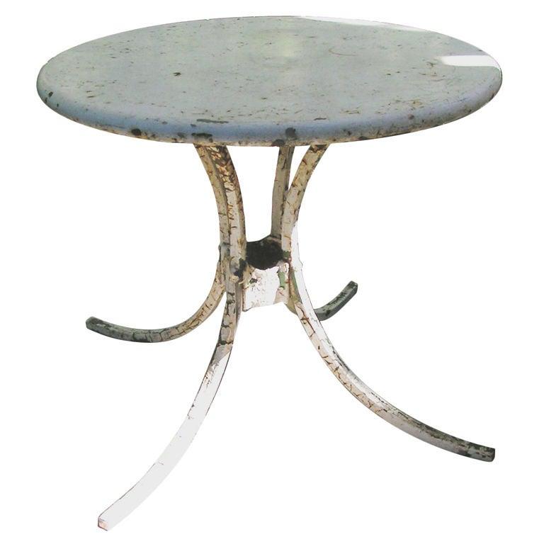 Vintage American Metal Garden Side Table, circa 1950