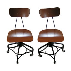 Pair of Vintage Adjustable Toledo Chairs, c. 1950's