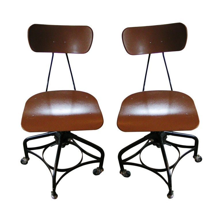 Pair of Vintage Adjustable Toledo Chairs, c. 1950's For Sale