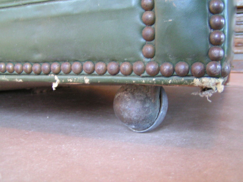 American Green Tufted Chesterfield Sofa For Sale
