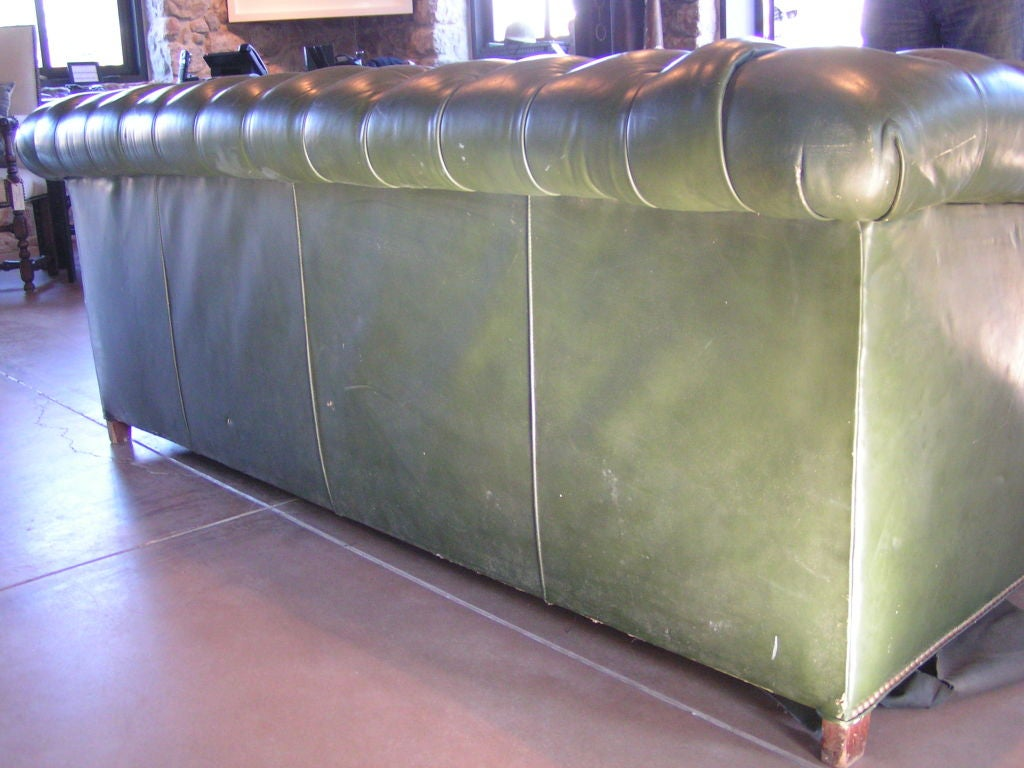 Green Tufted Chesterfield Sofa For Sale 1