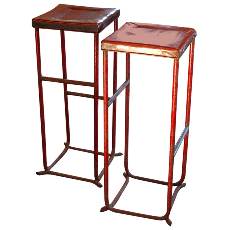 French Red Stools At 1stdibs
