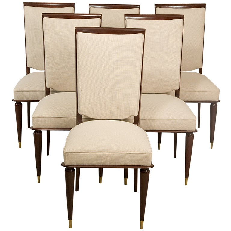 French Deco Dining Chairs At 1stdibs
