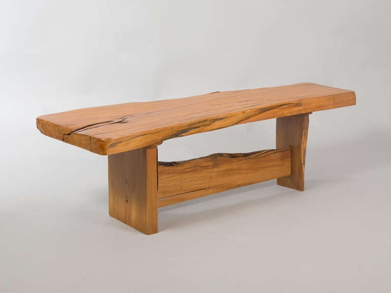Sculptural wooden coffee table bench at 1stdibs for Cocktail table with 4 benches