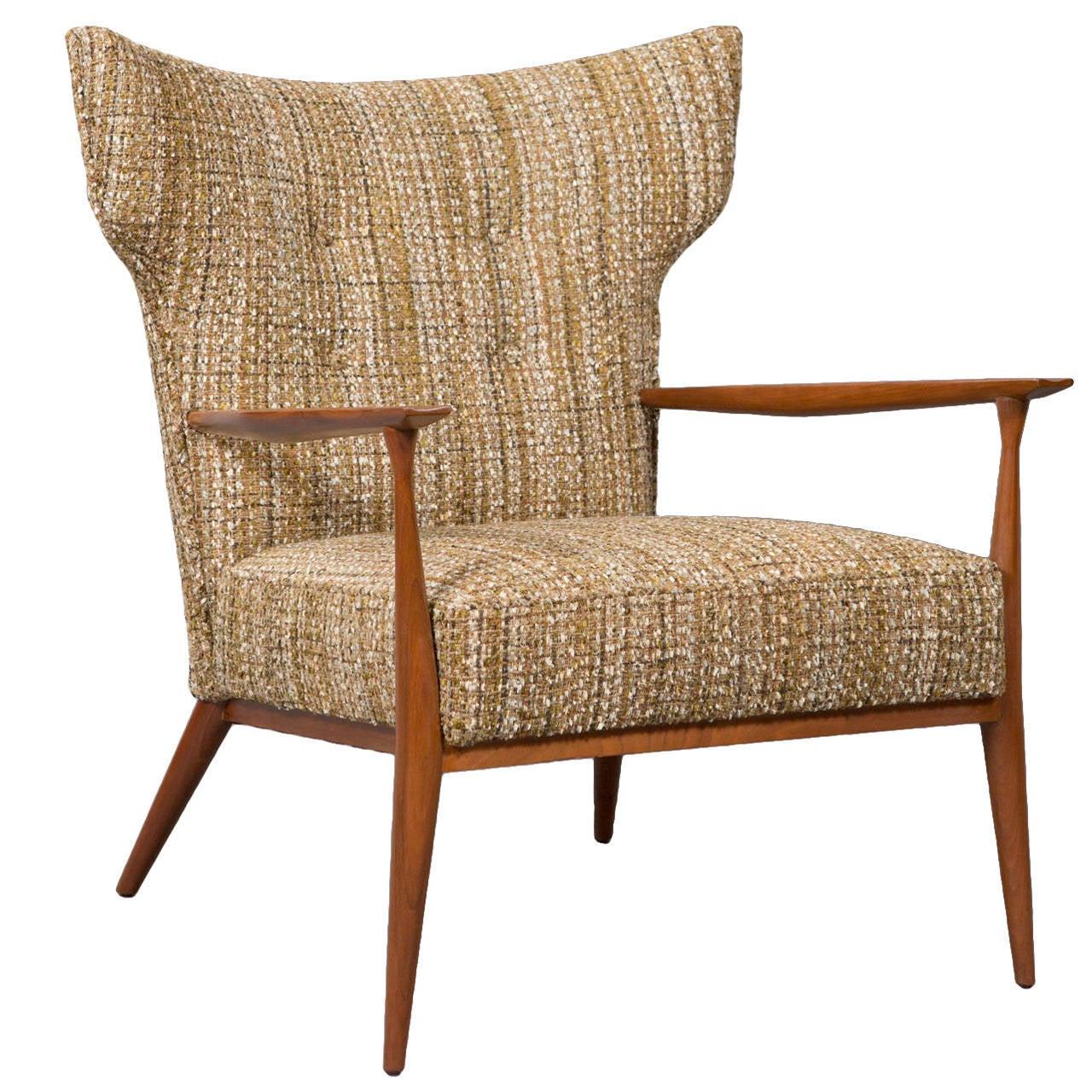 Rare 1950s Paul McCobb Wingback Lounge Chair at 1stdibs