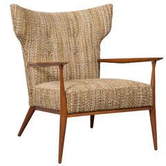Rare 1950s Paul McCobb Wingback Lounge Chair