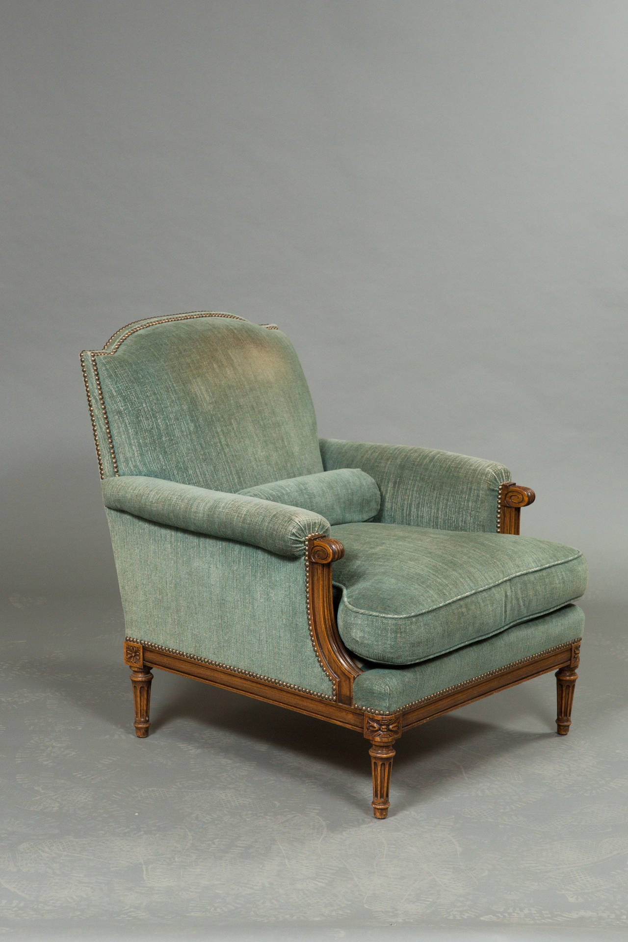 Pair of Louis XVI Style Bergeres 2