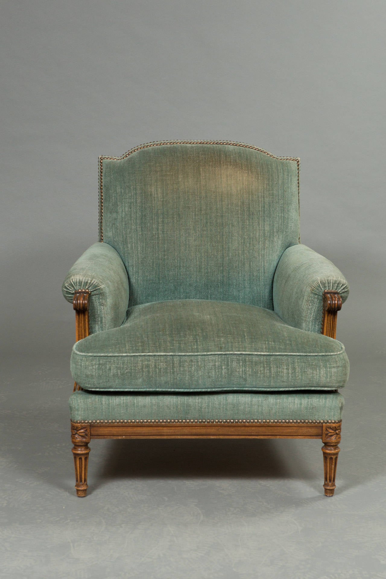 Pair of Louis XVI Style Bergeres 5
