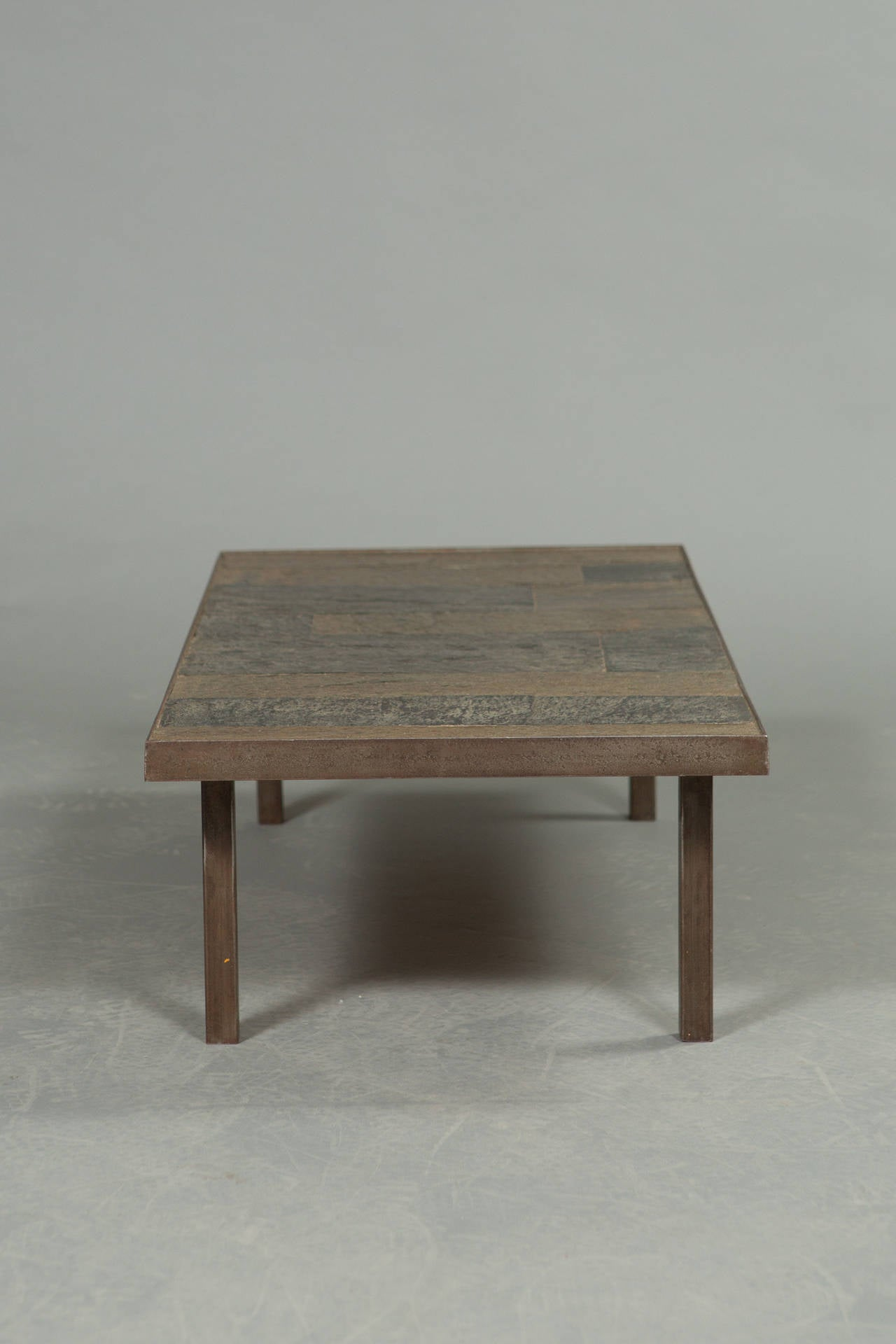 Dutch 1960s Slate and Stone Coffee Table For Sale