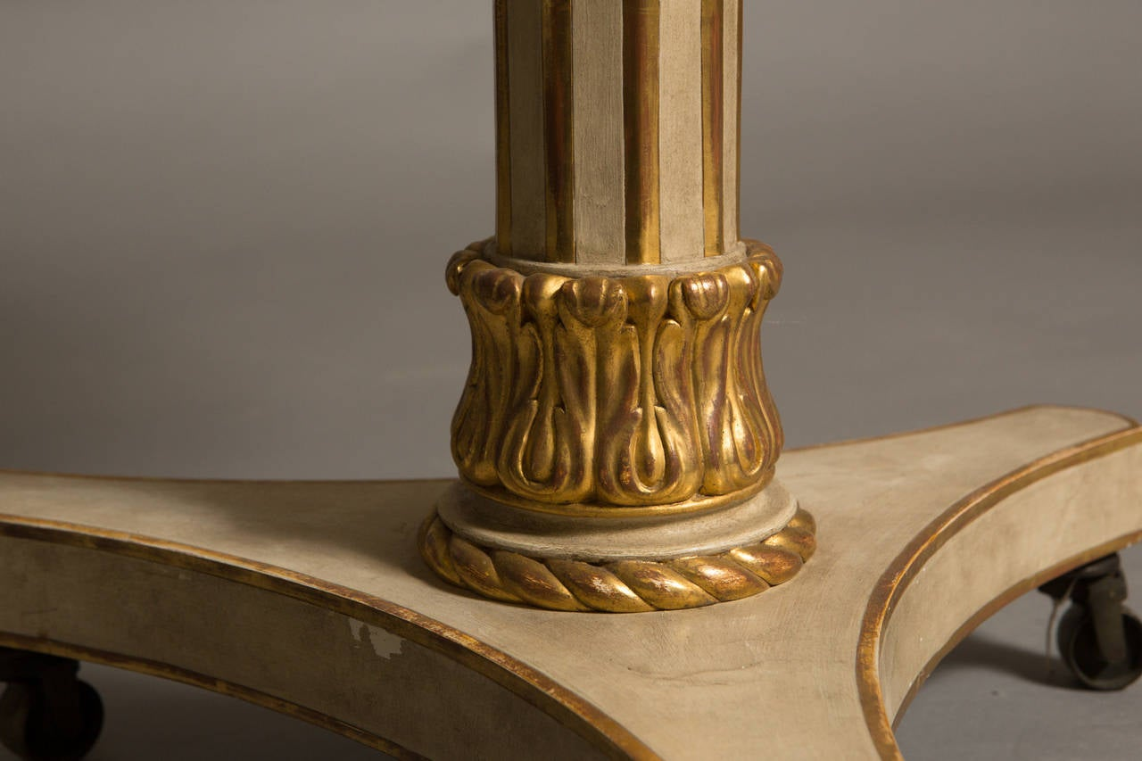 Neoclassical Style Parcel Gilt Center Table For Sale 1
