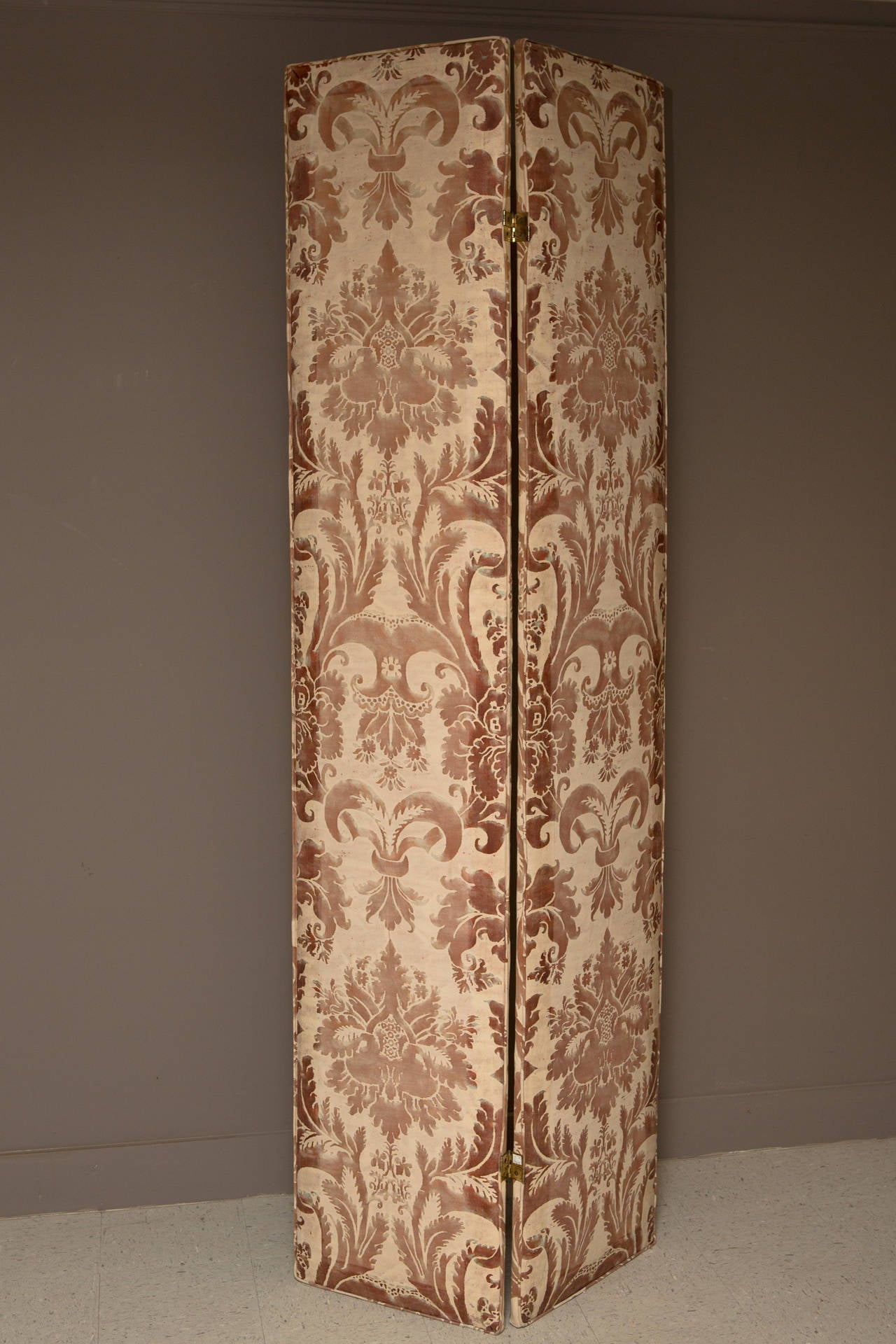Pair of Modern Two-Panel Fortuny Style Screens 2