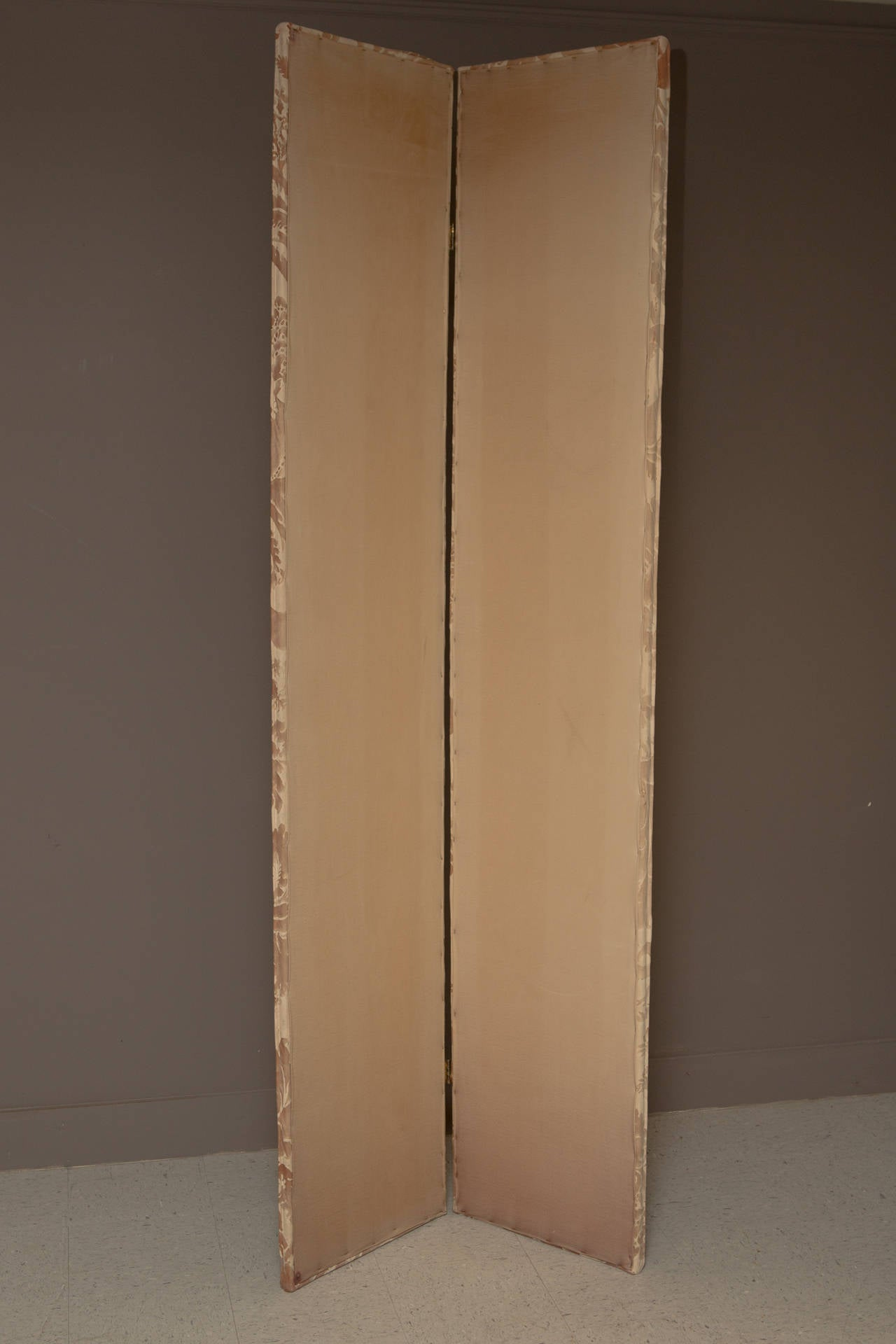 Pair of Modern Two-Panel Fortuny Style Screens 3