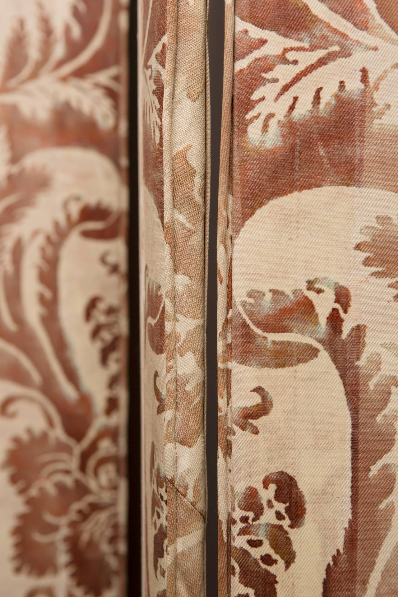 Pair of Modern Two-Panel Fortuny Style Screens 7