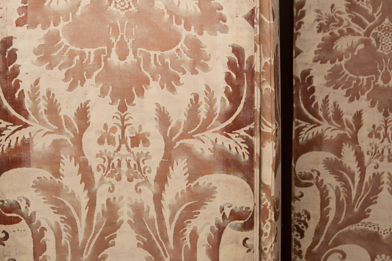 Pair of Modern Two-Panel Fortuny Style Screens 6
