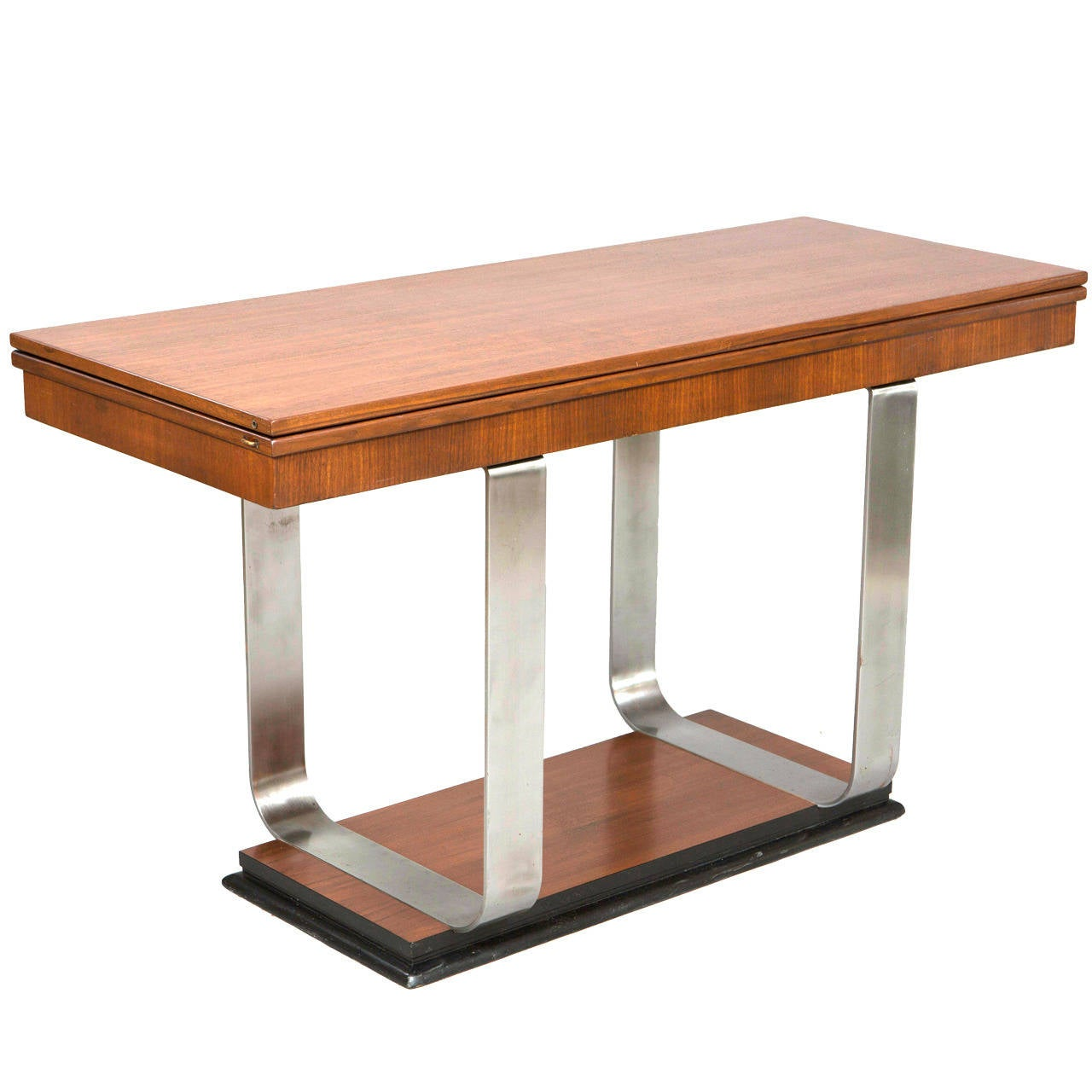 art deco flip top console table at 1stdibs. Black Bedroom Furniture Sets. Home Design Ideas
